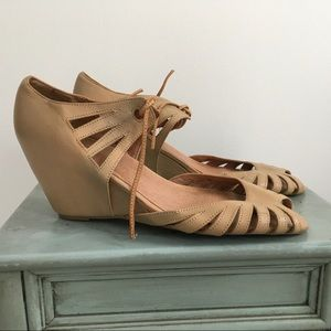 Jeffrey Campbell Shade Cutout Wedge Sandals